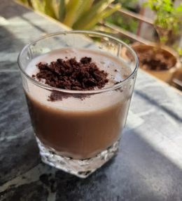 Chocolate Oats smoothie for weight loss