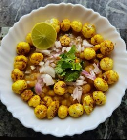 Makhana chaat recipe for weight loss