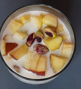 Overnight oats with coconut milk and apple (Vegan Recipe)